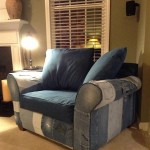 101 Things You Can Do With Old Jeans, No.4: Upholster a Chair!
