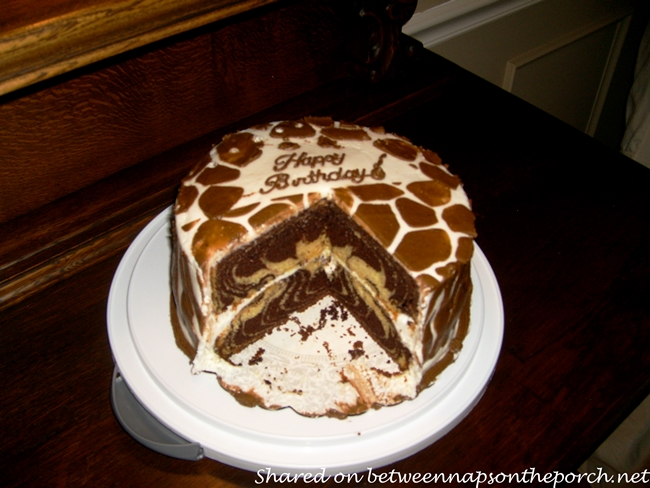 Safari and Zebra Themed Birthday Cake