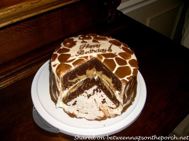 Safari and Zebra Themed Birthday Cake