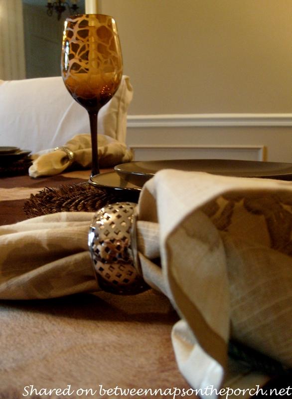 Silver Napkin Rings in Safari Table Setting