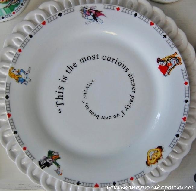 Alice in Wonderland Dishware Dinner Plate