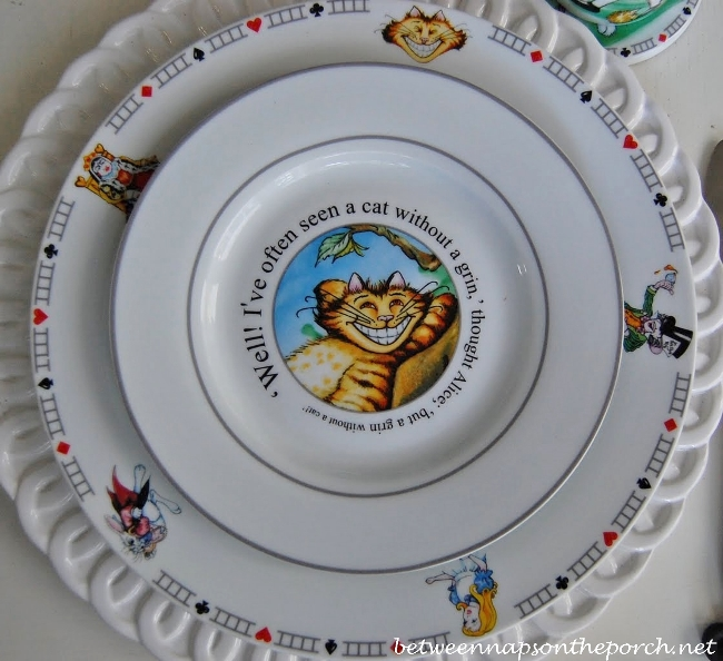 Alice in Wonderland Dishware Salad