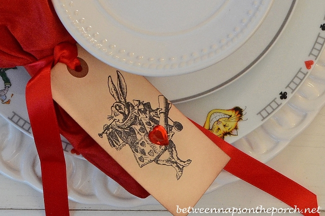 Alice in Wonderland Tablescape Table Setting