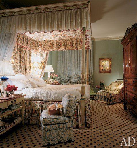 Bedroom by Mario Buatta