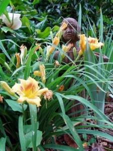 Bird Girl in the Garden