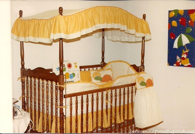 Canopy Bed in Nursery