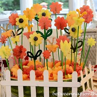 Centerpiece Flower Garden Carved from Watermelon