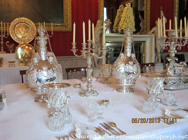 Chatsworth House Dining Room Silver
