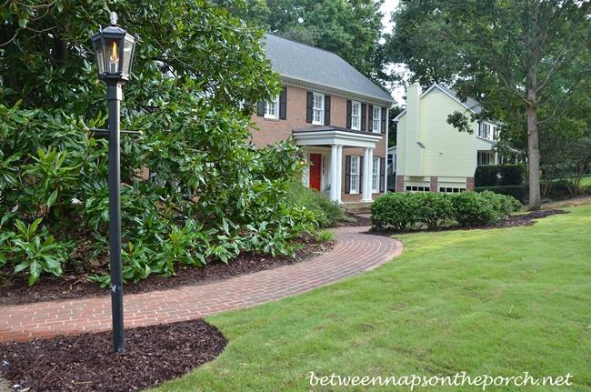 Curved Brick Walkway