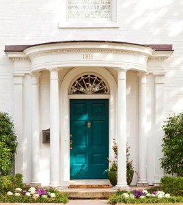 Door Painted in Benjamin Moore Peacock Blue