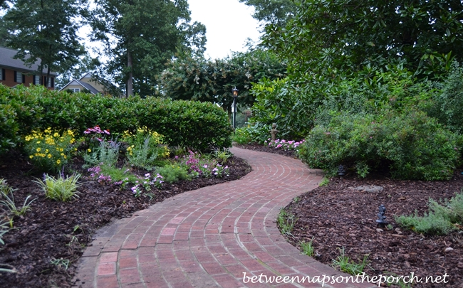 Perennial Bed Along Side Brick Walkway