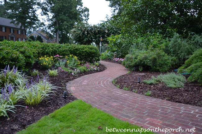 a brick walkway redesign between naps on the porch
