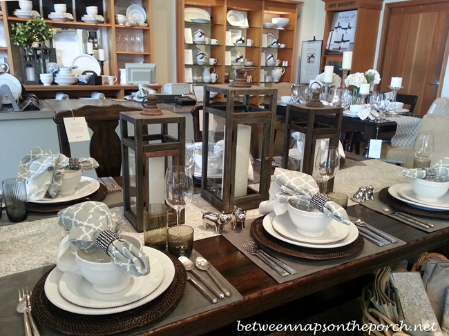 Pottery Barn Table Setting