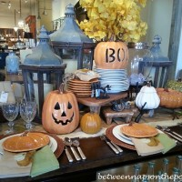 Pottery Barn Table Settings Tablescapes for Fall and Halloween