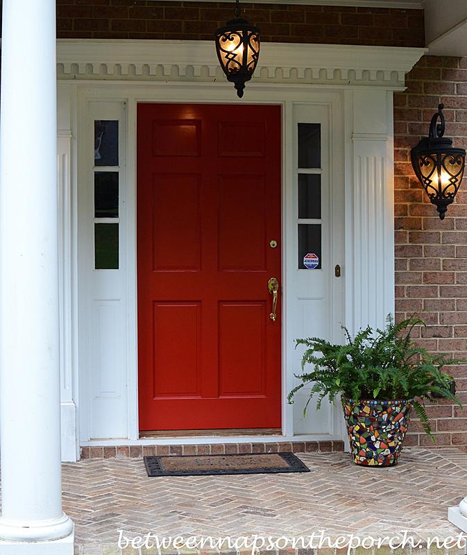 red front door on brick house. Red Door Painted Benjamin Moore Heritage Front On Brick House