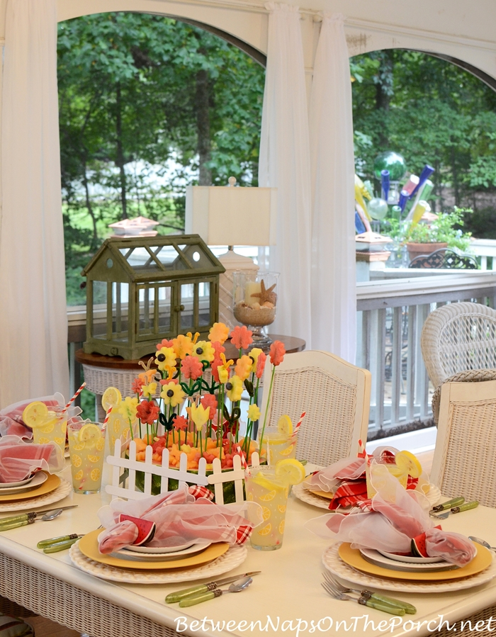 Summer Dining with a Watermelon Centerpiece