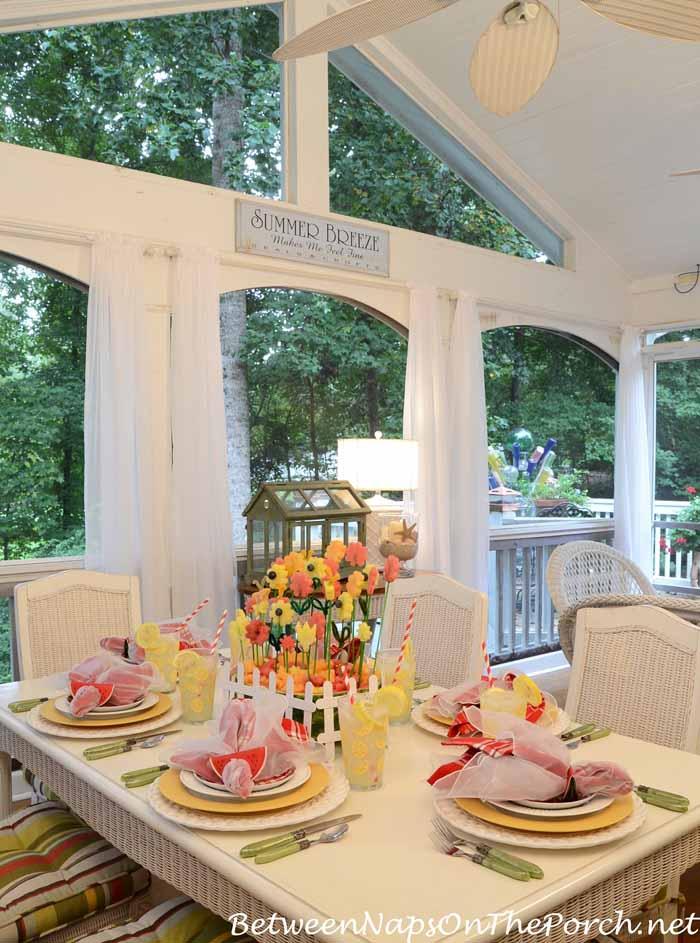 Summer Table with Watermelon Centerpiece_wm