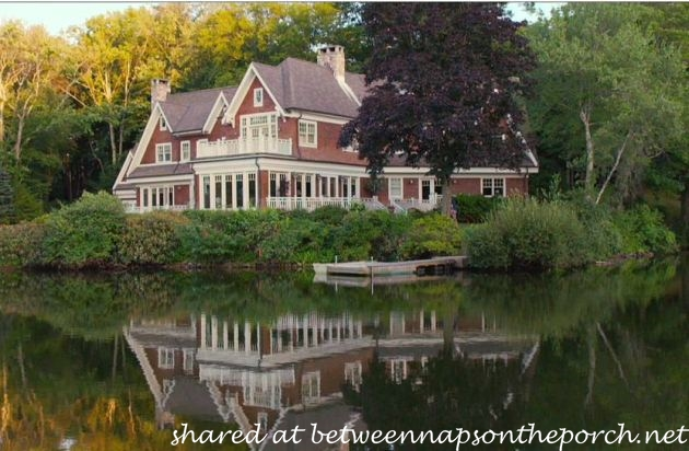 The big wedding tour this beautiful movie lake house for Lake cabins for rent in massachusetts
