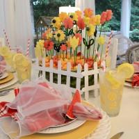 Summer Dining with an Edible Flower Garden Centerpiece