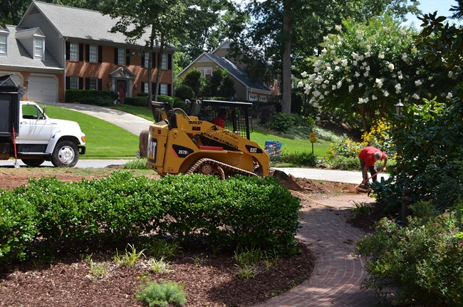 Yard Being Prepared for Zeon Zoysia Sod