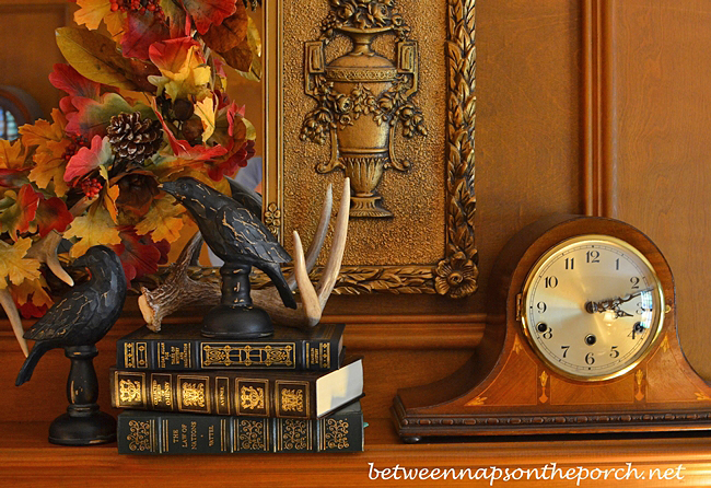 Autumn Mantel with Mantel Clock