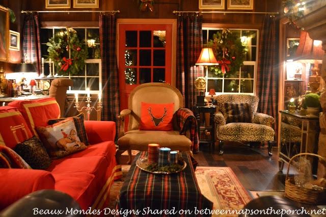 beautiful cabin lodge living room renovation 06 - Ralph Lauren Living Rooms