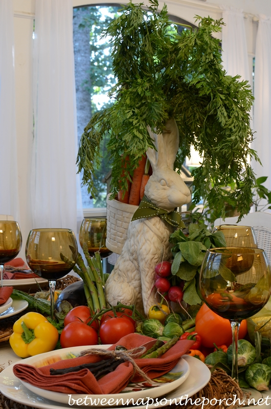 Bunny and Vegetable Centerpiece_wm