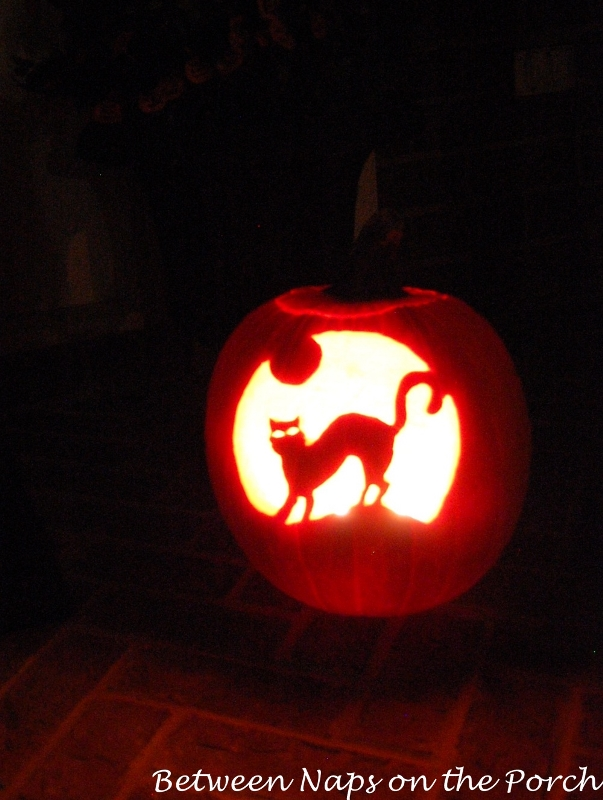 Cat Pumpkin Carving Template_wm