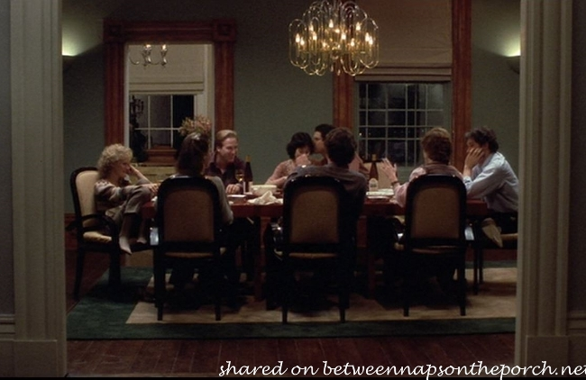 Dining Room in Movie, The Big Chill