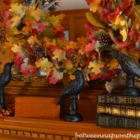 An Autumn Mantel and Fire Screen