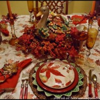 Fall Table Setting with Fall Leaves Dishware 5