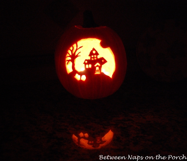 Haunted House Pumpkin Carving Template_wm