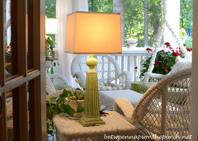 Lamp Lighting for a Porch