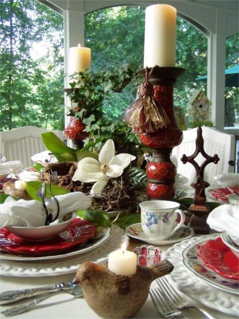 Nature Themed Table Setting