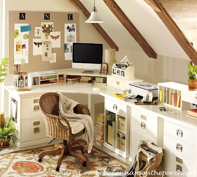how to design an office with pottery barn bedford furniture and a