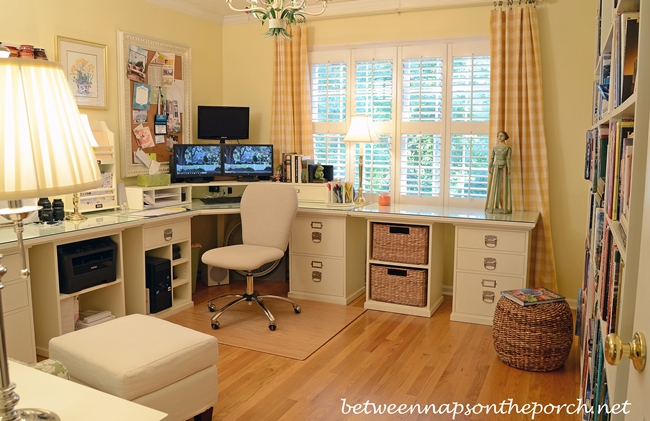 Pottery Barn Bedford Office Layout