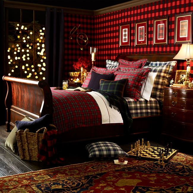 decorate for fall with classic tartans and plaids