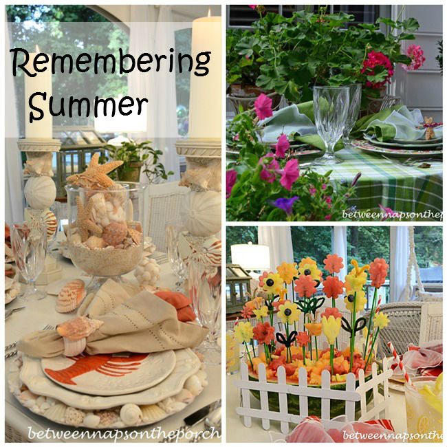 Summer Dining Collage