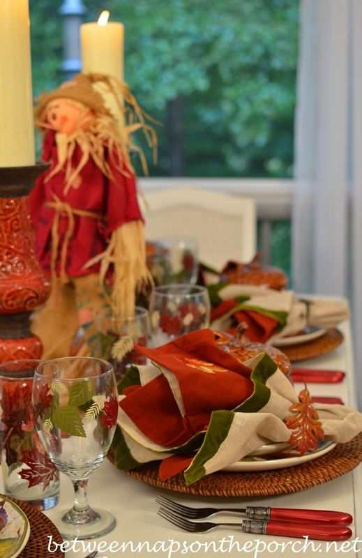 Table Setting for Fall or Autumn
