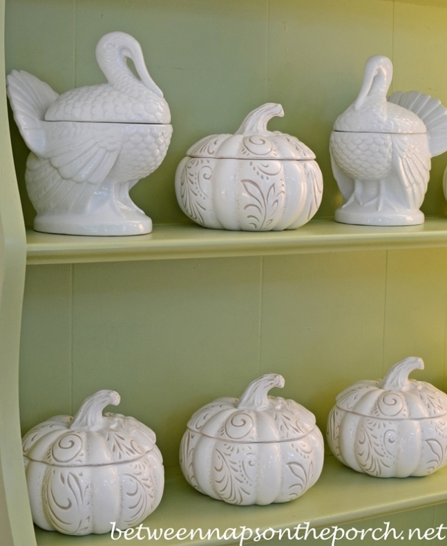 White Pumpkins and Turkeys