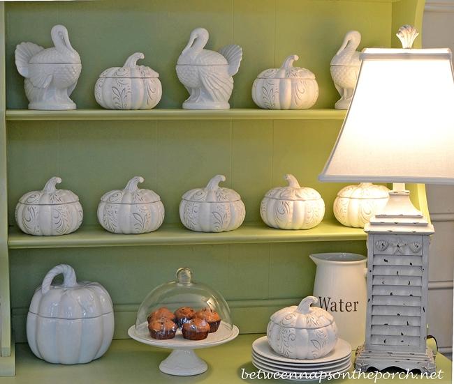 White Turkeys, White Pumpkins for Fall