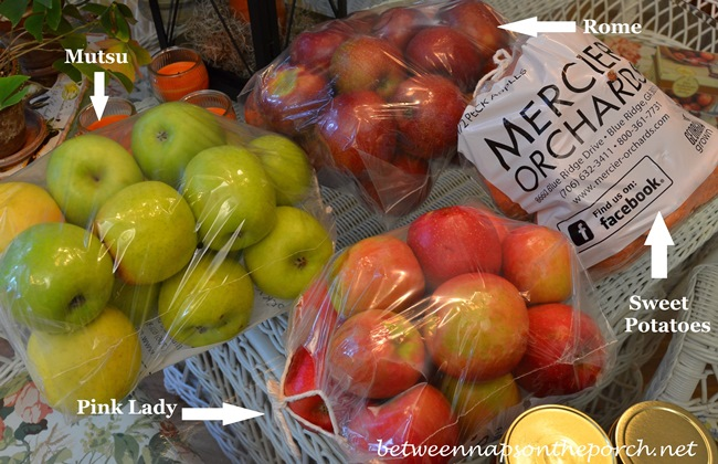 Apples, Pink Lady, Rome and Mutsu Apples