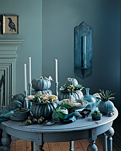 Creepy Blue Table Setting