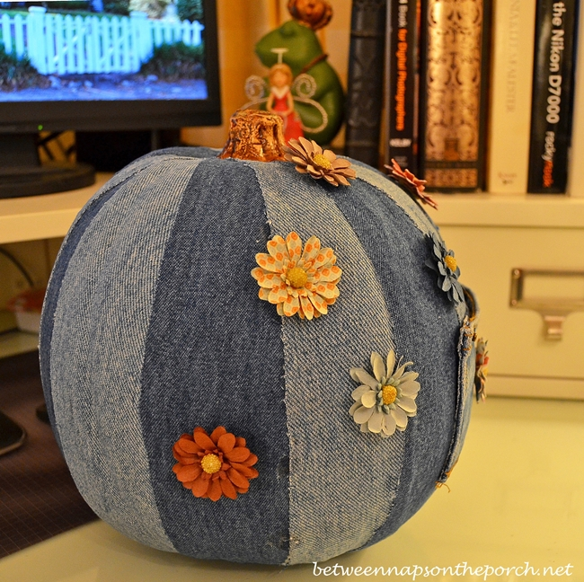 DIY Pumpkin Made with Denim