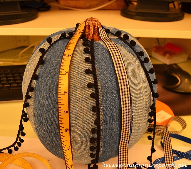 Decorate a Pumpkin with Ribbon