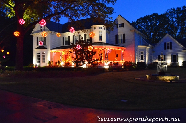 Decorating Outside for Halloween