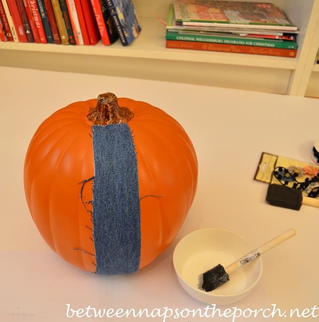 Denim Craft, Decoupage a Pumkin with Denim