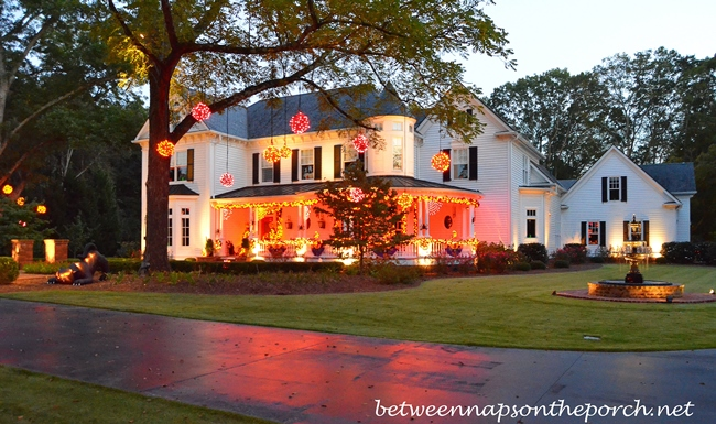 Exterior Lighting for Halloween