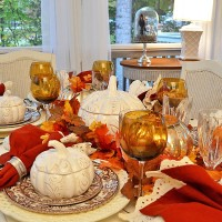 Autumn Table Setting with Spode Woodland