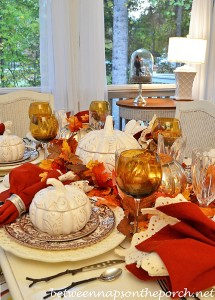 Fall Table Setting with Spode Woodland and Twig Flatware 1